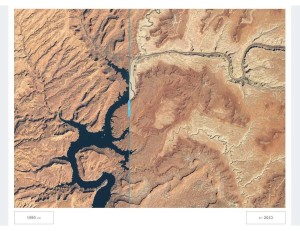 View this National Geographic interactive map online to compare today's low flows with historic Colorado River levels