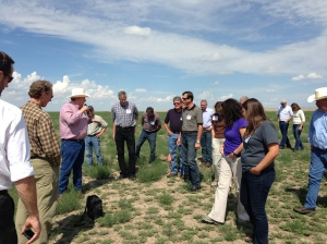 Tour participants learn about plant growth and farming techniques at Stulp Farms.