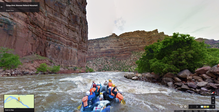 Google's new Streetview of the Yampa River