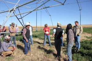 Young farmers visit Ute Mountain Farm and Ranch in Towaoc, Colo.