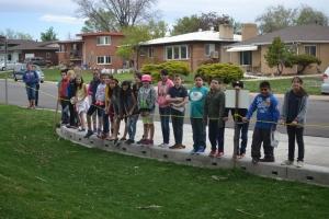 MSLA students by finished construction at Denver's Huston Lake Park.