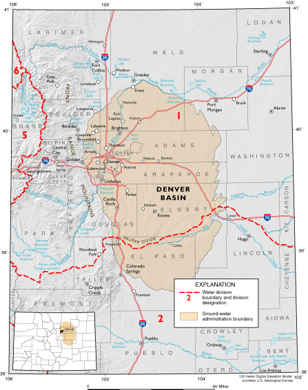 Denver Basin aquifer map