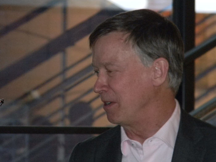 Governor John Hickenlooper at the Colorado Foundation for Water Education's Diane Hoppe Leadership Award Reception, May 20, 2016.